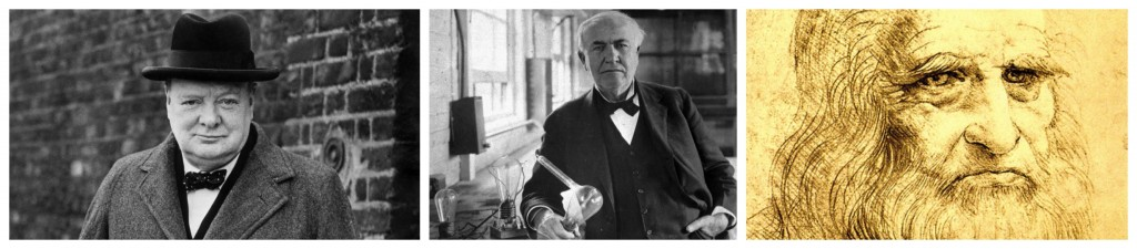 Wiston Churchill, Thomas Edison i Leonardo da Vinci eren celebritats vespertines